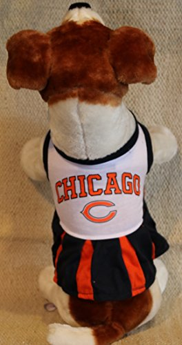 (Pets First Chicago Bears Cheerleader Dog Dress Outfit Licensed NFL (Small))