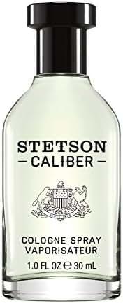 Stetson Caliber Cologne Spray for Men by Stetson 1 Fluid Ounce Spray Bottle A Unique Blend of Key Lime, Black Pepper & Sandalwood