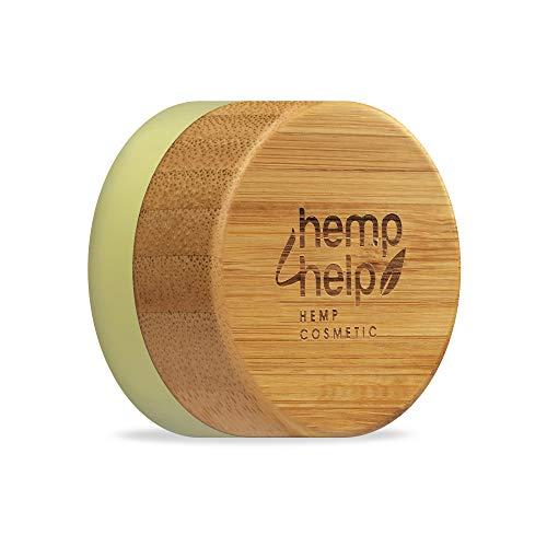 Hemp4Help 100 Prozent Natürlicher feuchtigkeitsspendender Lippenbalsam,Bio Hanf und Kakaobutter, Olive Oil, Natural Bienenwachs mit Vitamin E und Pfefferminzöl, 1 Dose, Plastikfrei