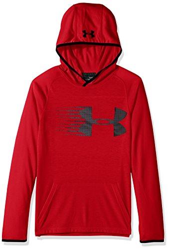 Under Armour Boys' Threadborne Hoodie,Red /Black, Youth Small