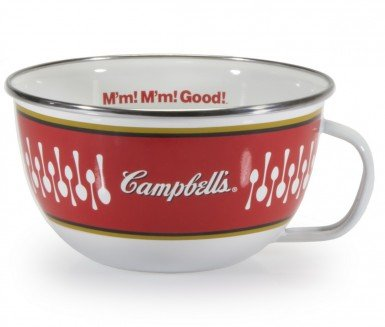 Golden Rabbit Enamelware Campbell's Soup 24 Oz Soup Mugs Set of 2