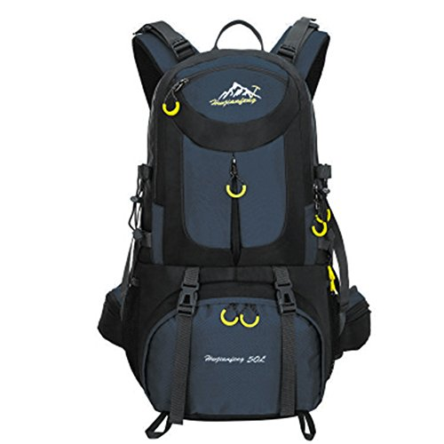 Nuosheng Lightweight Waterproof Backpack 50L for Outdoor Camping,Mountain climbing, Hiking, Cycling Travel