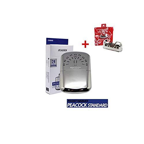 Peacock Hakkin Warmer Pocket Hand Warmer Standard Size 24 Hours with Replacement Burner (24 ()