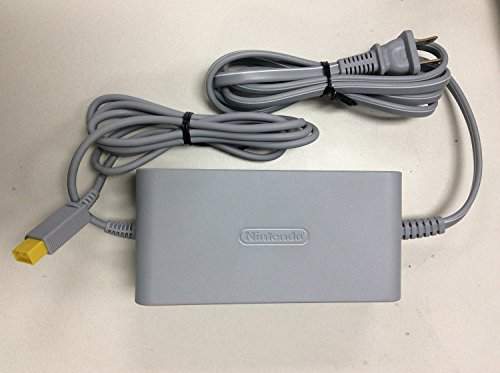 Genuine Nintendo OEM WiiU AC Adapter Power Supply Replacement Set With Wall Charger Cable Cord (Not compatible with Nintendo Wii)