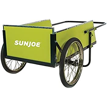 Sun Joe SJGC7 7 Cubic Foot Heavy Duty Garden + Utility Cart