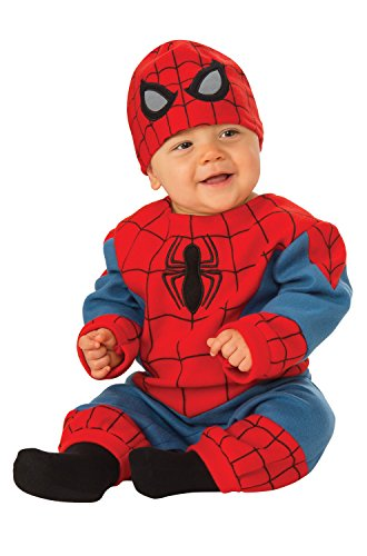 Homemade Halloween Costumes For Family Of 5 (Rubie's Baby's Marvel Spider-Man Romper, Newborn (0-6)