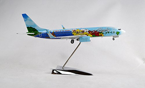 200 Alaska Airlines (GeminiJets Alaska Airlines Boeing 737-800 Diecast Airplane Model N560AS With Stand 1:200 Scale Part# G2ASA399)