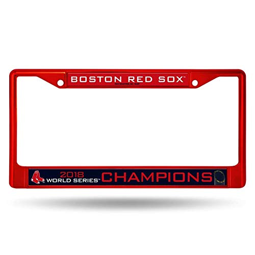 Boston Red Sox 2018 World Series Champions Color Chrome License Plate Frame (Red) ()
