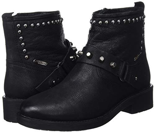 Maddox black Nero Pepe Ring Stivaletti Donna 999 Jeans HSwqn5CP