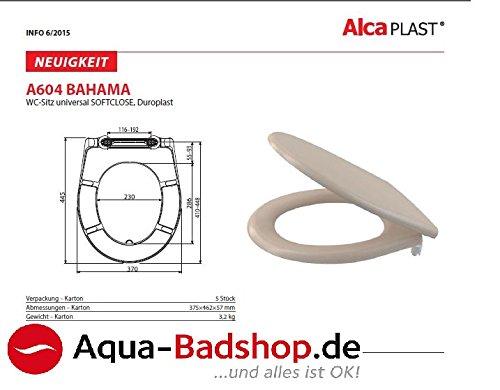 ALCA -WC-SITZ-TOILETTENSITZ-WC DECKEL -Soft Close Funktion-Verstellbare Scharniere-Farbe Bahama beige-Neuheit 2016