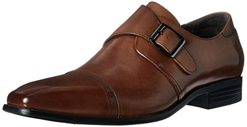 STACY ADAMS Men's Macmillian-Cap Toe Monk Strap Slip-On Loafer, Scotch, 9.5 M US