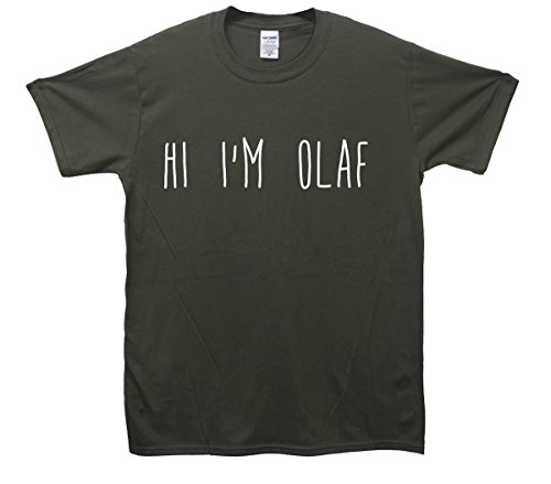 Hi I'm Olaf T-Shirt - Khaki - Medium (96cm-102cm)