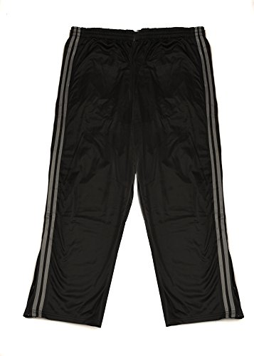 Blk Track - North 15 Men's Jogger Tricot Pants with Bottom Zipper-1229-Blk/Char-5XL
