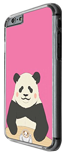 1167 - Cute Panda Pinky Design For iphone 6 Plus / iphone 6 Plus S 5.5'' Fashion Trend CASE Back COVER Plastic&Thin Metal -Clear
