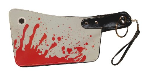 [Bloody Cleaver Clutch Hatchet Knife Kreepsville 666 Halloween Horror Clutch Purse Handbag] (666 Halloween Costume)