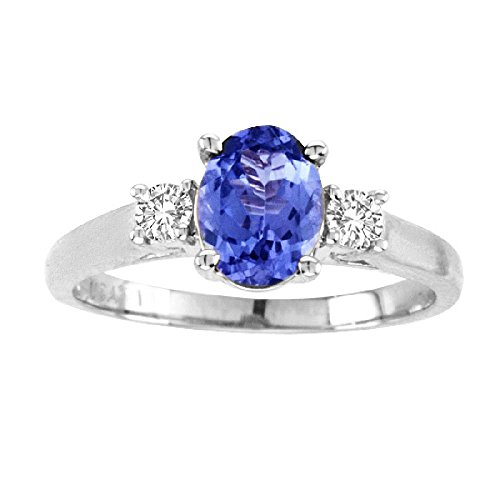 - 14kt White Gold Diamond and Tanzanite Ring 1.40ctTW