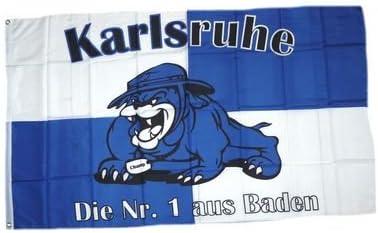 Flagge Karlsruhe Bulldogge Fan NEU 90 x 150 cm Fahne