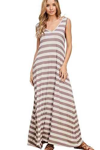 15508115af046 Annabelle Women's Oversize Loose Fit Sleeveless Reversible Maxi Dresses  with Pockets