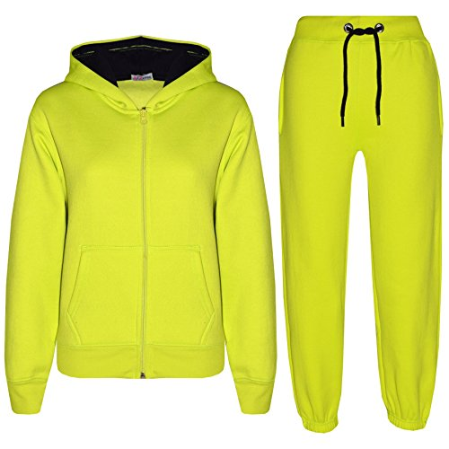 Kids Tracksuit Girls Boys Fleece Hooded Hoodie Bottom Jogging Suit Jogger 5-13Yr -