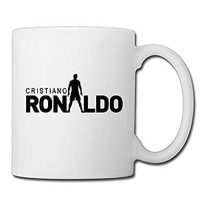 Christina Cristiano Ronaldo Logo Ceramic Coffee Mug Tea Cup White