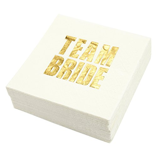 Bachelorette Party Cocktail Napkins - 50 Pack Gold