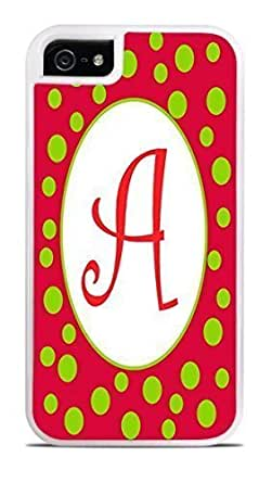 Amazon.com: Monogram Initial A Letter A Trendy Redi White