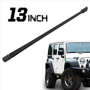 Rydonair Antenna Compatible with Jeep Wrangler JK JKU JL JLU Rubicon Sahara  (2007-2019) | 13 inches Flexible Rubber Antenna Replacement | Designed for