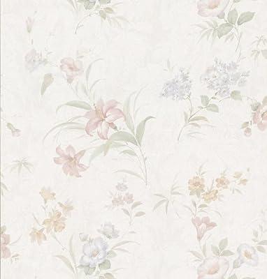Brewster 149-73317 Wenquien Pastel Floral Pattern Wallpaper