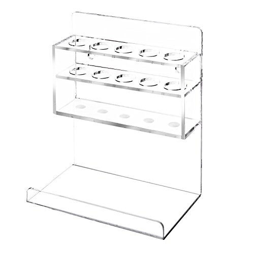 MyGift Clear Acrylic Wall Mounted 5 Slot Dry Erase Marker and Eraser Organizer Holder Rack, Set of 2 by MyGift (Image #5)