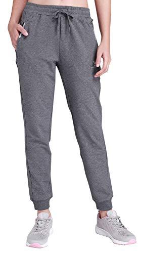 Pocket Sweatpants 2 - CAMEL CROWN Women's Jogger Pants Soft Cotton Drawstring Sweatpants with Pockets for Gym Running Jogging Grey-2 Medium