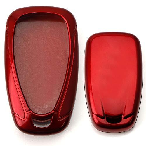 [해외]iJDMTOY 광택 금속 레드 정확한 맞춤 키 Fob 쉘 커버 2016-업 시보레 카마로 크루즈 스파크 볼트 볼트 2017-업 말리부 볼트 소닉 트랙스 등 / iJDMTOY Glossy Metallic Red Exact Fit Key Fob Shell Cover for 2016-up Chevrolet Camaro Cruze Spark...
