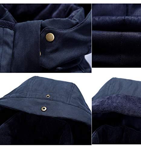 Taglia Taglia Parka Heavy Caldo Coat Jacket Winter Uomo Uomo Uomo da 4XL M Blue Men Uomo Cappotto XwfIgqPF