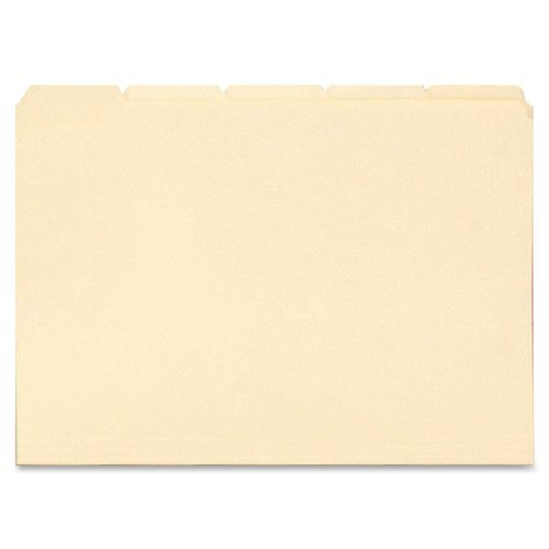 Smead File Folder, Reinforced 1/5-Cut Tab, Letter Size, Manila, 100 Per Box (10356) 1/5 Cut Top Tabs