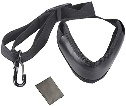 Wodison Saxophone Neck Adjustable Soft Strap Leather Padded Metal Hook for Tenor Alto Sax and Clarinets Oboes