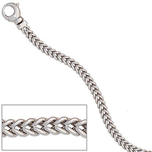 Armband 585 Gold Weißgold 19 cm Goldarmband Karabiner
