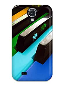 Best Tpu Phone Case With Fashionable Look For Galaxy S4 - Music Art