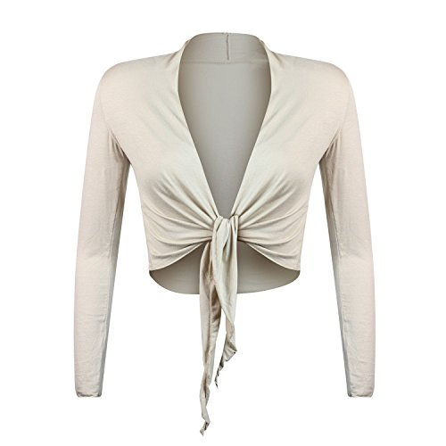 Glamexx24 elegante Bolero da donna giacchetta con maniche lunghe Khaki