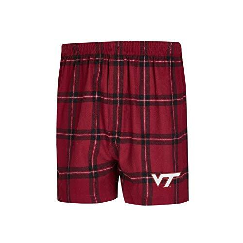 Concepts Sport Virginia Tech VT Hokies Men's Boxers Flannel Boxer Shorts - Boxers Virginia Tech