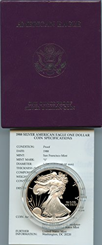 1988 American Eagle (1988 Proof American Eagle Silver Dollar with Original Packaging & Certificate of)
