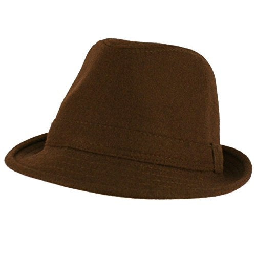 Solid Fedora Trilby Gangster Mob Cap