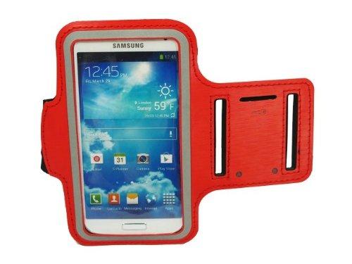 Alto Valor Slim Fit Red Running cubierta de la caja del brazal para i9500 Samsung Galaxy S4 SIV