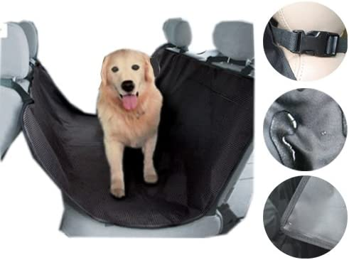 Brightent Car Seat Protector Dog Pet Hammock Mat Liner Cover Black Rear Dirt Protection HSD1B