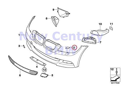 BMW Genuine M Performance Parts Primered Left Headlight Washer Cover 323i 325i 325xi 328i 328xi 330i 330xi 335i 335xi 323i 328i 328xi 335d 335i 335xi 325xi 328i 328xi 328i 328xi (Bmw M Performance Parts)