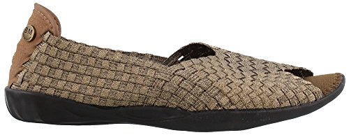 Bernie Mev Women's Dream Slip-On Flats Shoes Open Toe (38 M EU/7.5-8B(M) US, Bronze)