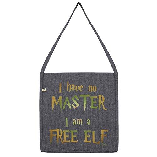 Twisted Envy I Have No Master, I Am A Free Elf Tote Bag Dark Grey