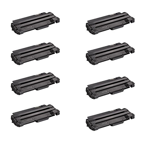 Compatible Toner to replace Dell 330-9523 (7H53W) High Yield Black Toner Cartridge for your Dell 1130,1135 Printer-8 Pack