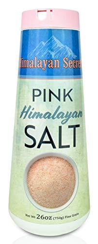 Natural Pink Himalayan Cooking Salt - Kosher Certified Fine Grain Gourmet Salt in 26 oz Refillable Shaker - Heart Healthy Salt Packed with Minerals (Best Salt For Cooking)