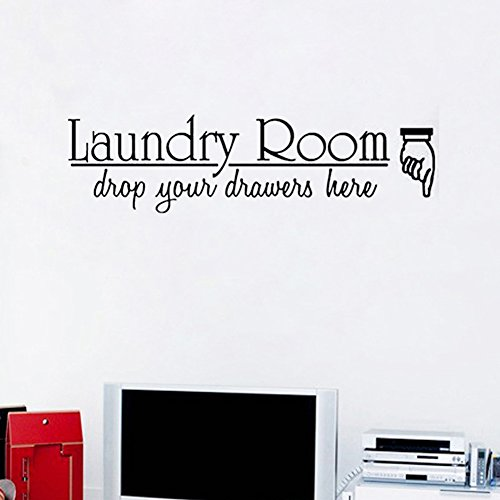 Kililaya Home Hotel Laundry Room Wall Sticker Inspiring Saying Quote Letter Pattern Reminder Wall Decal Home Living Room Washing Room Bedroom Decoration Wallpaper Balcony Wall Mural