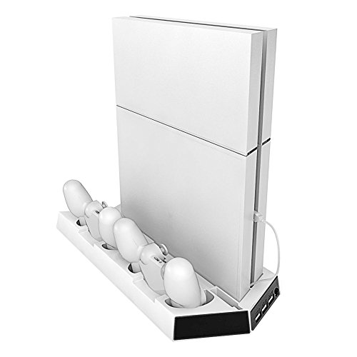 picozon-vertical-stand-cooling-charging-system-for-playstation-4-white