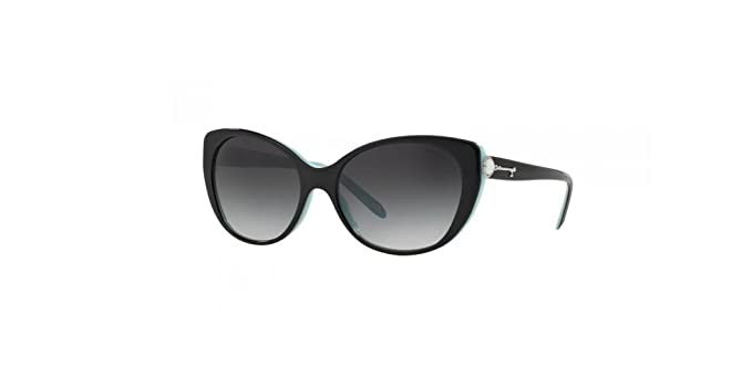 Amazon.com: Tiffany tf4099h Cateye Perla Plata Clave Negro y ...